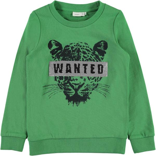 Name it Kids Trui Sweater Brian Medium Green Wanted Veeg Flip
